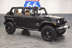 2013_Jeep_Wrangler Unlimited_LIFTED! 18'' BLACKED OUT ROCKSTAR WHEELS/ NITTO GRAPPLER TIRES! LEATHER! NAVIGATION! HARD TOP!_ Norman OK