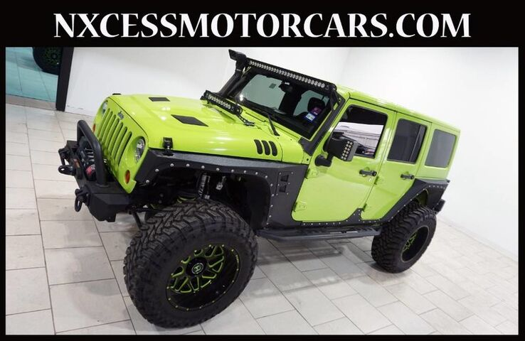 2013 Jeep Wrangler Unlimited Rubicon AUTOMATIC LEATHER SEATS BACK-UP CAM 1-OWNER. Houston TX