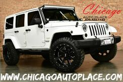 2013_Jeep_Wrangler Unlimited_Sahara - 3.6L VVT V6 ENGINE 4 WHEEL DRIVE BLACK CLOTH SAHARA SEATS LIFTED SUSPENSION OFF ROAD TIRES LED LIGHT BAR_ Bensenville IL