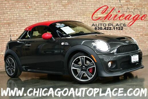 2013 MINI Cooper Coupe John Cooper Works - 1.6L TUNED TURBOCHARGED I4 ENGINE 6 SPEED MANUAL 1 OWNER BLACK LEATHER HEATED SEATS LED AMBIENT LIGHTS BLUETOOTH Bensenville IL
