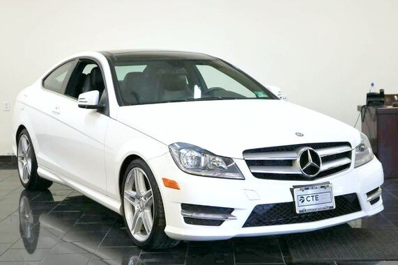 2013_Mercedes-Benz_C-Class_2dr Cpe C 350 4MATIC, 1 Owner, Clean Carfax, Panorama Moonroof, Multimedia Package, Full Leather Seating, Keyless Go, Memory Seating, Navigation System, Back-up Camera,_ Leonia NJ