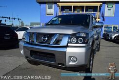 2013_Nissan_Titan_SL Heavy Metal Edition / 4X4 / Crew Cab / Power & Heated Leather Seats / Navigation / Rockford Fosgate Speakers / Bluetooth / Back Up Camera / Fog Lights / Heated Mirrors / Bed Liner / Only 38k Miles / Tow Pkg_ Anchorage AK