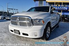 2013_Ram_1500_Laramie / 4X4 / 5.7L HEMI V8 / Crew Cab / Auto Start / Heated & Cooled Leather Seats / Heated Steering Wheel / Alpine Speakers / Navigation / Bluetooth / Back Up Camera / Chrome Wheels / Bed Liner / Tow Pkg_ Anchorage AK