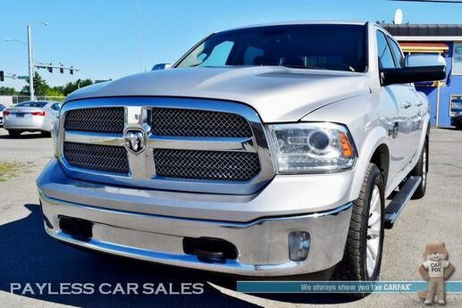 2013 Ram 1500 Laramie Longhorn Edition / 4X4 / Crew Cab / Heated & Ventilated Leather Seats / Heated Steering Wheel / 8.4 Touchscreen Navigation / Sunroof / Alpine Speakers & Subwoofer / Auto Start / Bluetooth / Back Up Camera / Tow Pkg / 1-Owner Anchorage AK