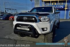 2013_Toyota_Tacoma_Limited / 4X4 / Double Cab / Automatic / Heated Leather Seats / Navigation / Sunroof / Auto Start / JBL Speakers / Matching LEER Canopy / Bluetooth / Back Up Camera / Weather Tech Floor Mats / Tow Pkg_ Anchorage AK