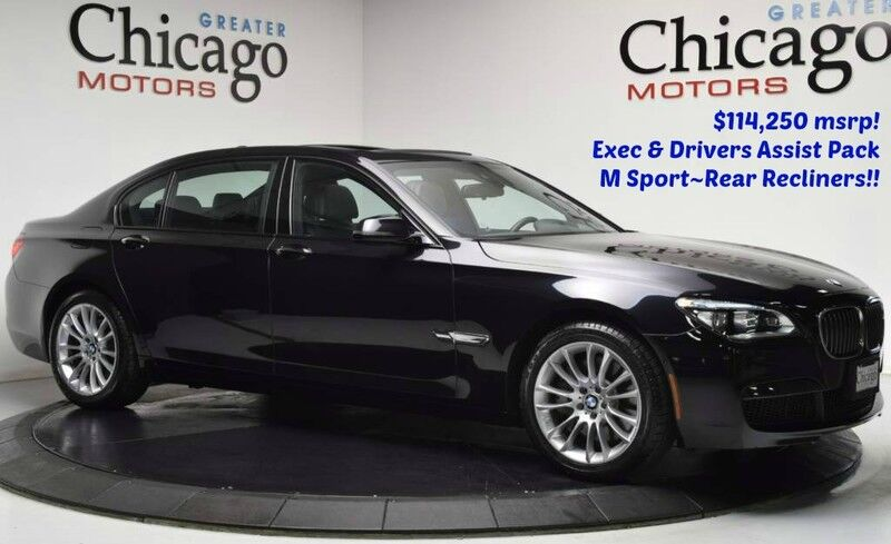 2014_BMW_750li xDrive $114,250 msrp M Sp_Luxury Rear Seating~Drivers Assist_ Chicago IL
