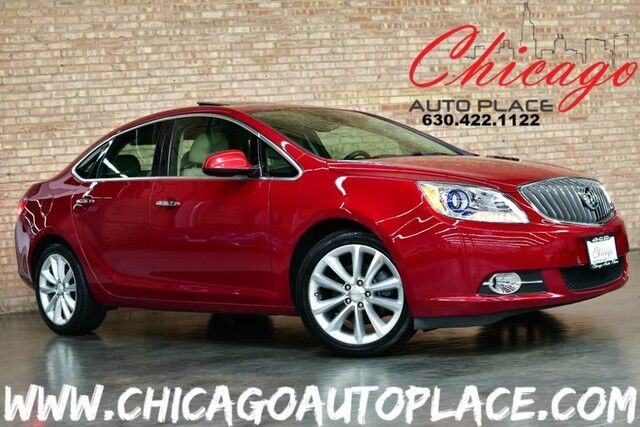2014 Buick Verano Leather Group - ECOTEC 2.4L 4-CYL ENGINE FRONT WHEEL DRIVE NAVIGATION BACKUP CAMERA BOSE AUDIO SUNROOF BEIGE LEATHER HEATED SEATS + STEERING WHEEL Bensenville IL