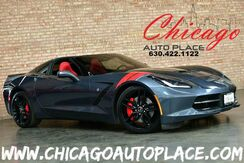 2014_Chevrolet_Corvette Stingray_Z51 3LT - 6.2L V8 DI ENGINE NAVIGATION BACKUP CAMERA HEADS-UP DISPLAY KEYLESS GO RED LEATHER HEATED/COOLED SPORT SEATS BOSE AUDIO_ Bensenville IL