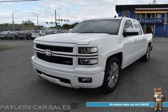 2014_Chevrolet_Silverado 1500_LTZ / Z71 / 4X4 / Lowered / KMC Rims / Auto Start / Heated & Cooled Leather Seats / Heated Steering Wheel / Bose Speakers / Lane Departure & Collision Alert / Bluetooth / Back Up Camera / Bed Liner / Tow Pkg_ Anchorage AK