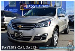 2014_Chevrolet_Traverse_LTZ / AWD / Heated Leather Seats & Steering Wheel / Auto Start / Navigation / Dual Sunroof / Bose Speakers / Driver's Alert Pkg / 3rd Row / Seats 7 / Back up Camera / Tow Pkg_ Anchorage AK