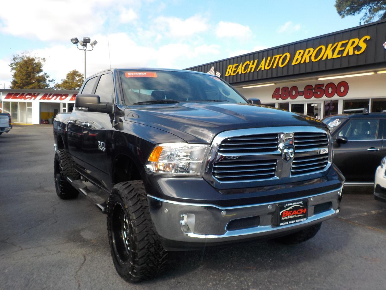 2014 DODGE RAM 1500 BIG HORN CREW 4X4, BUYBACK GUARANTEE, WARRANTY, BACKUP  CAM, NAV, SIRIUS RADIO, REMOTE START!! Norfolk VA 26767847