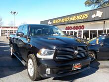 2014_DODGE_RAM_1500 SPORT CREW CAB 4X4, WARRANTY, LEATHER, BACKUP CAM, NAV, HEATED/COOLED SEATS, REMOTE START, A/C!_ Norfolk VA