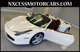 Ferrari 458 Italia SPIDER SHOWROOM CONDITION 1-OWNER JUST 1K MILES. 2014