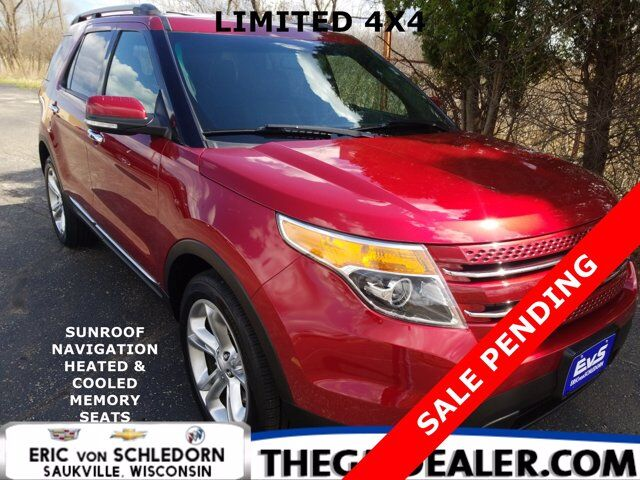 2014 Ford Explorer Limited 4WD w/Sunroof Nav HtdCldMemLthr RearCamera Milwaukee WI