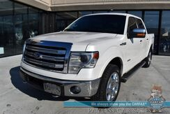 2014_Ford_F-150_Lariat / 4X4 / Crew Cab / Auto Start / Heated & Cooled Leather Seats / Sony Speakers / Navigation / Sunroof / Bluetooth / Back Up Camera / Bed Liner / Tow Pkg / 1-Owner_ Anchorage AK