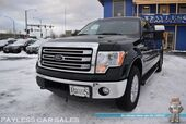 2014 Ford F-150 Lariat / Off Road Pkg / 4X4 / 3.5L V6 Ecoboost / Crew Cab / Power & Heated Leather Seats / Sunroof / Auto Start / Microsoft Sync Bluetooth / Back Up Camera / Rear Parking Aid / Block Heater / Tow Pkg / 1-Owner