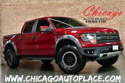 2014_Ford_F-150_SVT Raptor - SUPERCREW CLEAN CARFAX 4WD PREMIUM SVT RACING WHEELS OFF ROAD TIRES XENON HEADLAMPS RED LEATHER RAPTOR SEATS OFF ROAD CAMERA NAVIGATION BACKUP CAMERA_ Bensenville IL