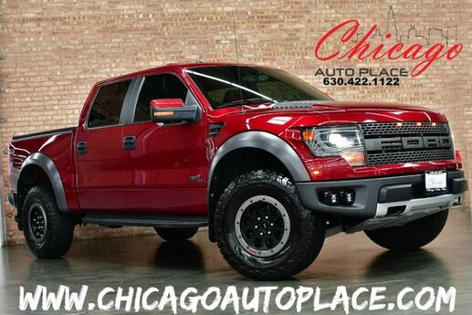2014 Ford F-150 SVT Raptor - SUPERCREW CLEAN CARFAX 4WD PREMIUM SVT RACING WHEELS OFF ROAD TIRES XENON HEADLAMPS RED LEATHER RAPTOR SEATS OFF ROAD CAMERA NAVIGATION BACKUP CAMERA Bensenville IL