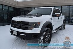2014_Ford_F-150_SVT Raptor / 4X4 / Crew Cab / 6.2L V8 / Auto Start / Heated & Cooled Leather Seats / Navigation / Sony Speakers / Sunroof / Bluetooth / Back Up Camera / Air Raid Air Intake / Bed Liner / Tow Pkg_ Anchorage AK