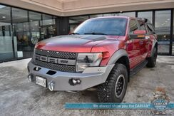 2014_Ford_F-150_SVT Raptor / 4X4 / Crew Cab / 6.2L V8 / Heated & Cooled Leather Seats / Navigation / Auto Start / Sony Speakers / Sunroof / ARE Canopy / Custom Front Bumper / Bluetooth Back Up Camera / Tow Pkg_ Anchorage AK