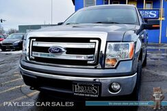 2014_Ford_F-150_XLT / 4X4 / Crew Cab / 3.5L Ecoboost / Power Driver's Seat / Microsoft Sync Bluetooth / Seats 6 / Tonneau Cover / Bed Liner / Tow Pkg / 1-Owner_ Anchorage AK