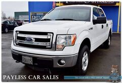 2014_Ford_F-150_XLT / 4X4 / Crew Cab / 5.0L V8 / Power Driver's Seat / Microsoft Sync / Seats 6 / Bed Liner / Block Heater / Tow Pkg / 1-Owner_ Anchorage AK