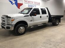 2014_Ford_Super Duty F-350 DRW_Diesel 4x4 Dually Crew Flat Bed 5th Wheel 6 Passenger_ Mansfield TX