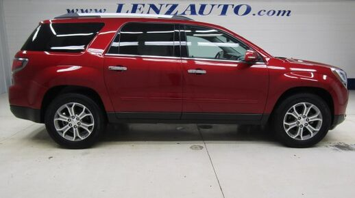 2014_GMC_Acadia_FWD SLT: 3.6L-NAV-MOON-QUADS-THIRD-REVERSE CAMERA-BOSE-LEATHER-CD PLAYER-FWD_ Fond du Lac WI