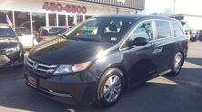 HONDA ODYSSEY EX-L, CARFAX CERTIFIED, 3RD ROW, SATELLITE, DVD, MOONROOF, HEATED LEATHER, BLUETOOTH, ONE OWNER! 2014