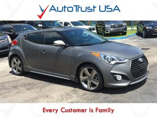 Hyundai Veloster Turbo 1 Owner Nav Backup Cam Pano Roof Factory Warranty Loaded 2014