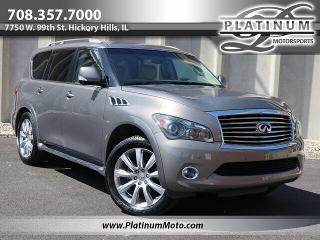 2014 INFINITI QX80 1 Owner Nav Rear Entertainment Cameras Loaded Hickory Hills IL