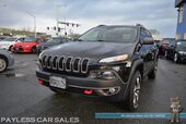 2014 Jeep Cherokee Trailhawk / 4X4 / 3.2L V6 / Power & Heated Leather Seats / Heated Steering Wheel / Navigation / Auto Start / Bluetooth / Back Up Camera / Keyless Entry & Start / Power Liftgate / Block Heater / Only 35K Miles