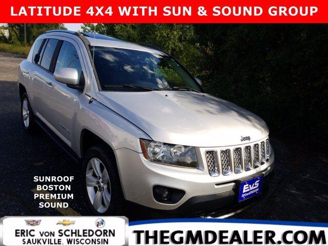 2014 Jeep Compass Latitude 4WD w/Sun&SoundGroup UConnectVoiceCommandwithBluetooth Sunroof BostonSound HtdCloth Milwaukee WI
