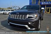 2014 Jeep Grand Cherokee Summit / Advanced Technology Pkg / 4X4 / Turbo Diesel / Air Suspension / Heated & Ventilated Leather Seats / Heated Steering Wheel / Auto Start / Navigation / Panoramic Sunroof / Bluetooth / Back Up Camera / 1-Owner
