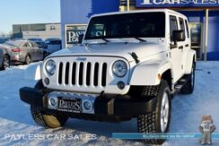 2014_Jeep_Wrangler Unlimited_Sahara / 4X4 / Painted Hard Top / Automatic / Auto Start / Heated Leather Seats / Navigation / Alpine Speakers & Subwoofer / Bluetooth / Running Boards / Aluminum Wheels / Tow Pkg_ Anchorage AK