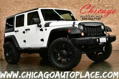 2014_Jeep_Wrangler Unlimited_Sport - 3.6L V6 CYLINDER ENGINE 4 WHEEL DRIVE LIFTED SUSPENSION OFF ROAD TIRES + WHEELS BLACK CLOTH INTERIOR BLUETOOTH CONNECTIVITY_ Bensenville IL