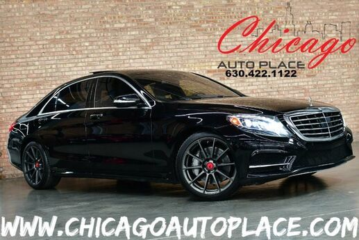 2014 Mercedes-Benz S-Class S 550-4 MATIC - NAVIGATION BACKUP CAMERA BURMESTER AUDIO PANO ROOF HEATED/COOLED BLACK LEATHER LED AMBIENT LIGHTING Bensenville IL