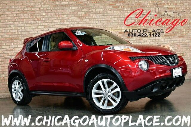 2014 Nissan JUKE SV - AWD 1.6L 4-CYL ENGINE BLACK/RED CLOTH SPORT SEATS NAVIGATION BACKUP CAMERA ROCKFORD FOSGATE AUDIO KEYLESS GO SUNROOF Bensenville IL