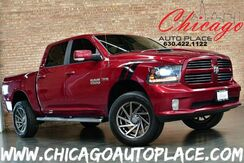 2014_Ram_1500_4WD Crew Cab Sport - 5.7L HEMI V8 VVT ENGINE BLACK LEATHER/CLOTH INTERIOR HEATED SEATS + STEERING WHEEL BACKUP CAMERA CUSTOM AIR CLEANER XENONS PREMIUM XD WHEELS_ Bensenville IL