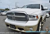 2014 Ram 1500 Longhorn / 4X4 / Air Suspension / 5.7L V8 HEMI / Heated & Cooled Leather Seats / Heated Steering Wheel / Navigation / Alpine Speakers & Subwoofer / RAM Box Storage / Auto Start / Bed Liner / Tow Pkg / 1-Owner