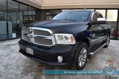 2014_Ram_1500_Longhorn Limited / 4X4 / Air Suspension / Crew Cab / Auto Start / Heated & Leather Seats / Heated Steering Wheel / Alpine Speakers / Sunroof / Navigation / Tonneau Cover / Bed Liner / Tow Pkg /_ Anchorage AK