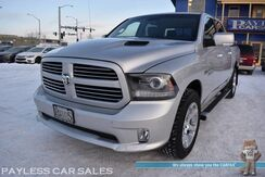 2014_Ram_1500_Sport / 4X4 / 5.7L HEMI V8 / Crew Cab / Auto Start / Heated & Cooled Leather Seats / Heated Steering Wheel / Alpine Speakers / Sunroof / Navigation / Bluetooth / Back Up Camera / Firestone Helper Bags / Bed Liner / Tonneau Cover / Tow Pkg_ Anchorage AK