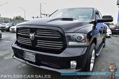 2014 Ram 1500 Sport / 4X4 / 5.7L V8 HEMI / Crew Cab / Heated & Cooled Leather Seats / Heated Steering Wheel / Navigation / Sunroof / Alpine Speakers & Subwoofer / Auto Start / Bluetooth / Back Up Camera / Tow Pkg