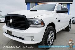 2014_Ram_1500_Sport / 4X4 / Crew Cab / Heated & Ventilated Leather Seats / Heated Steering Wheel / 8.4 Touchscreen Navigation / Sunroof / Alpine Speakers & Subwoofer / Auto Start / Bluetooth / Back-Up Camera / Bed Liner / Tow Pkg_ Anchorage AK