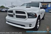 2014 Ram 1500 Sport / 4X4 / Quad Cab / 5.7L V8 HEMI / Heated & Ventilated Leather Seats / Heated Steering Wheel / Navigation / Sunroof / Alpine Speakers & Subwoofer / Auto Start / Bluetooth / Back Up Camera / Tow Pkg / 1-Owner
