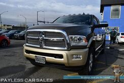 2014_Ram_2500_Longhorn / 4X4 / 6.7L Turbo Diesel / Crew Cab / Heated & Cooled Leather Seats / Heated Steering Wheel / Sunroof / Navigation / Alpine Speakers / Auto Start / Bluetooth / Back Up Camera / Bed Liner / Tow Pkg / New Tires_ Anchorage AK