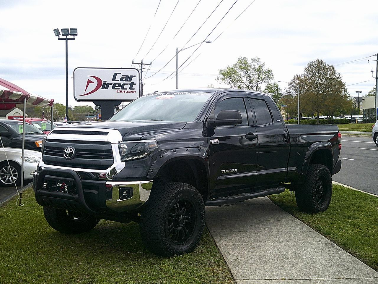 """Toyota Virginia Beach >> 2014 TOYOTA TUNDRA SR5 DOUBLE CAB 4X4,AUTOCHECK CERTIFIED, LIFTED, GRILLE GUARD, 20"""" CUSTOM ..."""