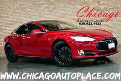 2014_Tesla_Model S_60 kWh Battery - L ELECTRIC MOTOR REAR WHEEL DRIVE SUBZERO PACKAGE GRAY LEATHER PANO ROOF NAVIGATION BACKUP CAMERA GLOSS BLACK WHEELS_ Bensenville IL