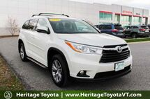 2014 Toyota Highlander XLE South Burlington VT
