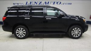 2014 Toyota Sequoia 4WD Limited: 5.7L-NAV-MOON-TV-DVD-BENCH-THIRD-REVERSE CAMERA-JBL-LEATHER-CD PLAYER-4WD